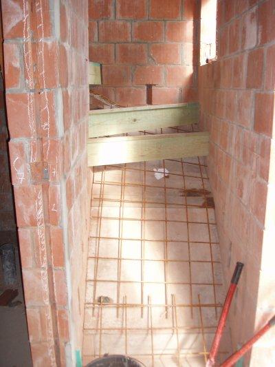 Escalier en beton deux quart tournant