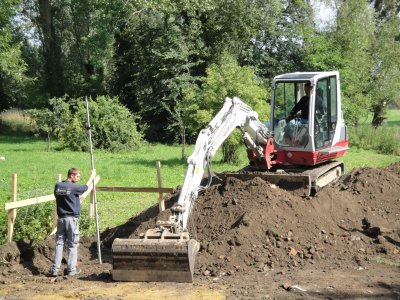 Travaux réaliser en 2011 un garage terrassement, béton de fondation, vide technique