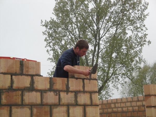 Maçonnerie blocs terre cuite
