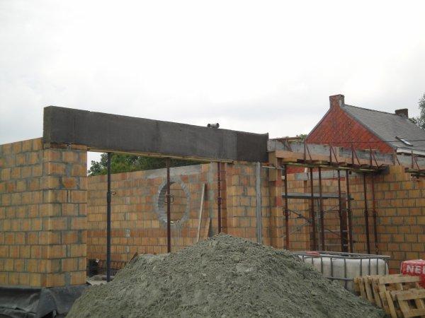 Coullage des linteaux en béton