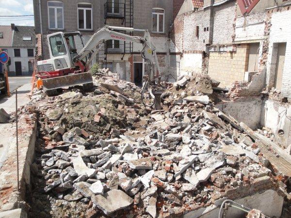 Gros chantier démolition