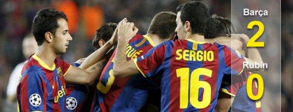 FC Barcelone 2-0 Rubin Kazan