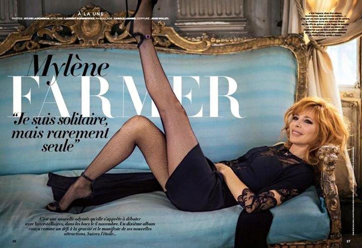 """Mylène Farmer """" Je suis solitaire mais rarement seule"""""""
