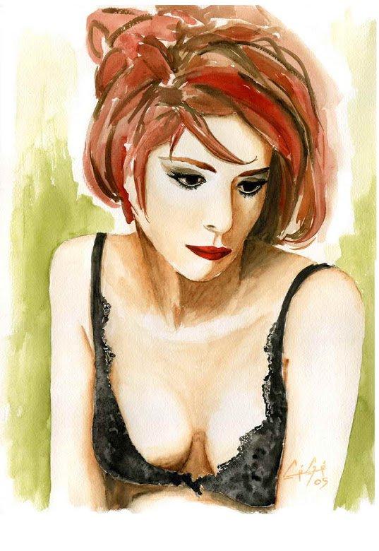 Peinture Mylène Farmer