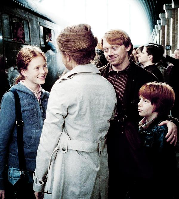 -Attends, coupa sèchement Bellatrix. Tous sauf... sauf la Sang-de-Bourbe. [...] -Non ! s'écria Ron. Prenez-moi à sa place, gardez-moi si vous voulez !