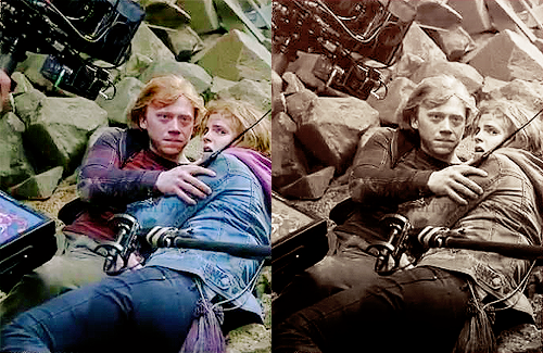 I'm Ron by the way, Ron Weasley