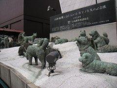 Statu des chiens de Antarctica
