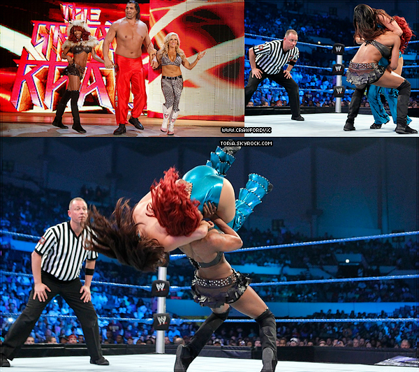 Smackdown 10/04/12 Alicia Fox, The Great Khali et Natalya vs The Bellas Twins et Drew Mcintyre