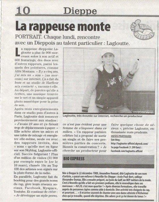 """ARTICLE PRESSE DU JOURNAL """" LE PARIS NORMANDIE """"DU 19/03/12"""