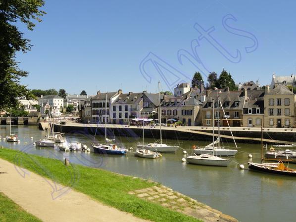 Paysage du port Saint-Goustan