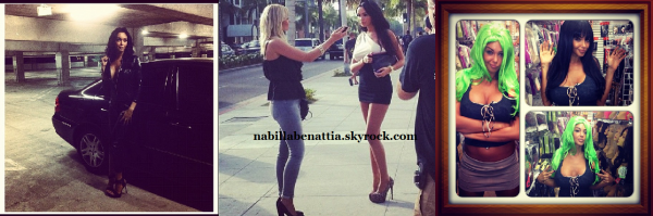 Nabilla à Los Angeles sur le tournage d'Hollywood Girls 2 !