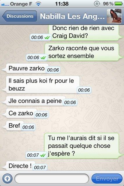 Nabilla dément sa relation avec Craig David !