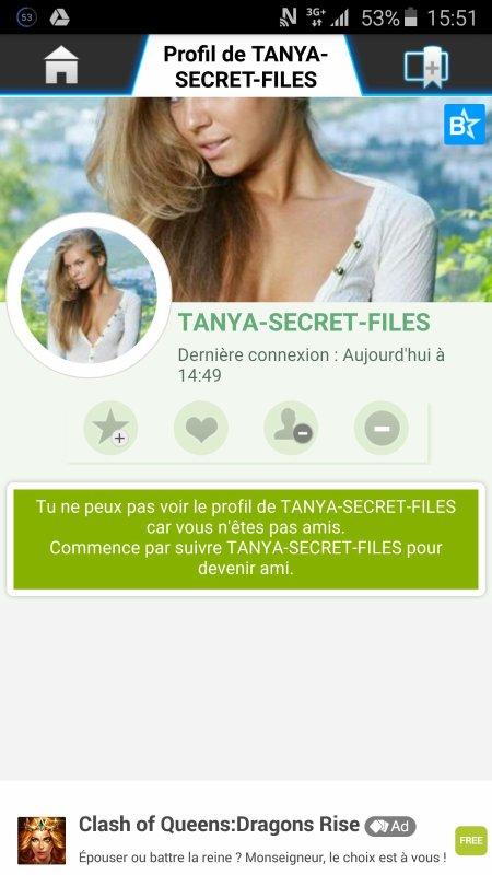 ATTENTION ! TANYA-SECRET-FILES est un gros fake qui utilise les photos d'Inga.C, un modèle de l'agence Met art. INFOS FACILEMENT VÉRIFIABLES SUR GOOGLE !