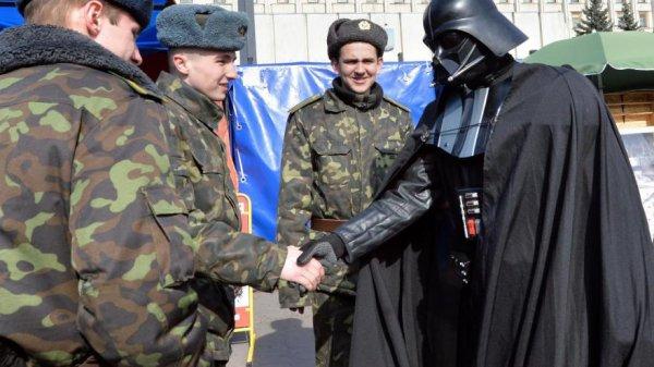 Dark vador soutient la guerre en Ukraine