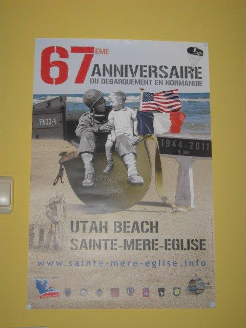 affiche du 67eme anniversaire du debarquement