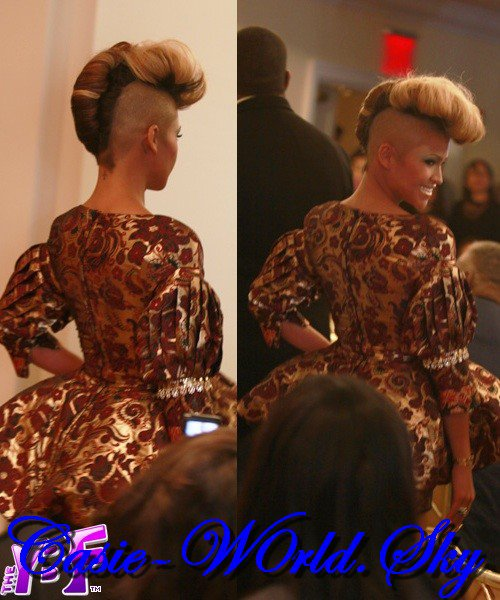 Cassie walks at LaQuan Smith Fashion Show