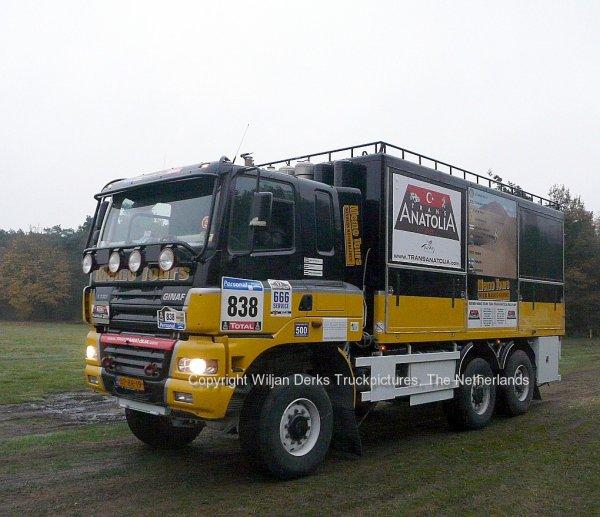Dakar 2012 Preproloog Valkenswaard GINAF X3331 Servicetruck, The Netherlands