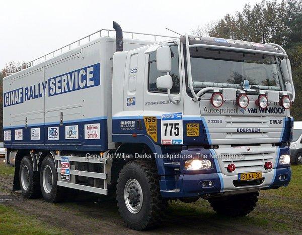 Dakar 2012 Preproloog Valkenswaard GINAF X3335S van Ginkel Servicetruck, The Netherlands