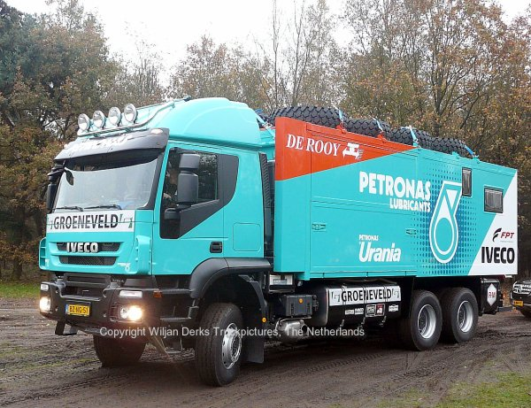 Dakar 2012 Preproloog Iveco Team Petronas Gerard de Rooij, Son, The Netherlands