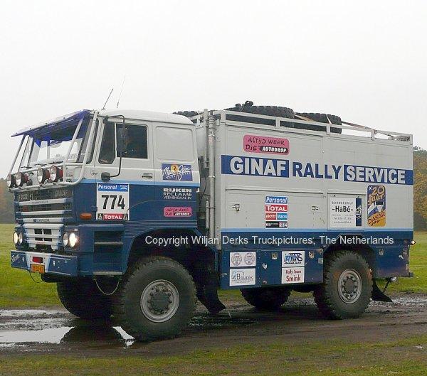Dakar 2012 Preproloog Valkenswaard GINAF F2222 van Ginkel Servicetruck, The Netherlands