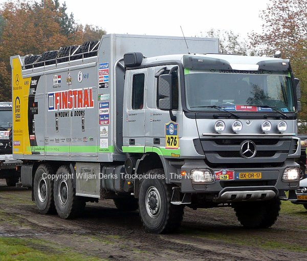 Dakar 2012 Preproloog Valkenswaard Mercedes Servicetruck Team Elfrink, The Netherlands