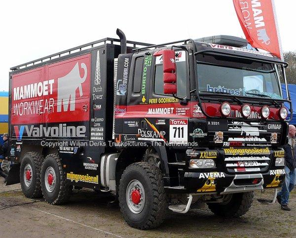 Dakar 2012 Preproloog Valkenswaard GINAF X3331 Mammoet Servicetruck, The Netherlands