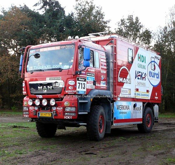 MAN Dakar 2015 Veka MAN Servicetruck, Nederland