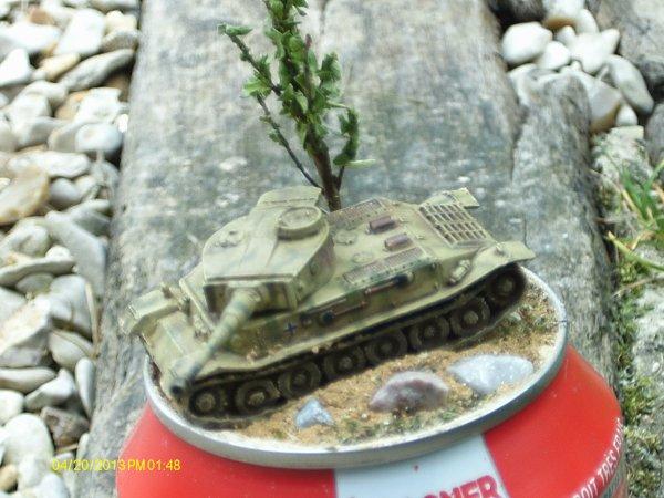 Diorama sd.Kfz.181 PanzerkampfwageVI