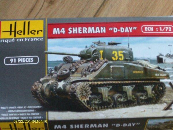 Sherman deep wanding 1/72 ( Heller )