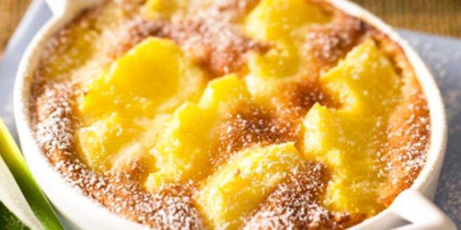 Clafoutis d'ananas à la vanille