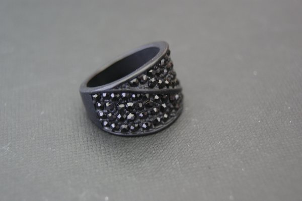 Bague diamants noirs 2¤