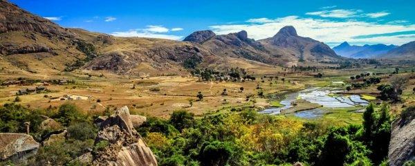 Encre un magnifique paysage de Madagascar