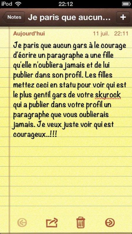 Je suis sûre que vous êtes courageux !!