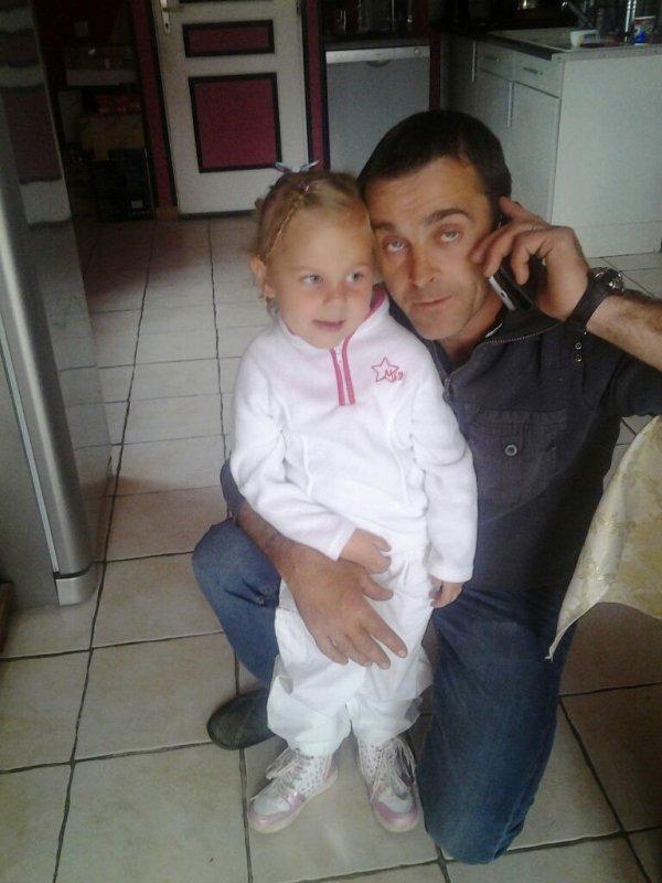 Sissi avec son papa