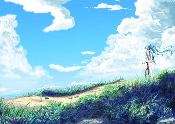 Miku fait du vélo