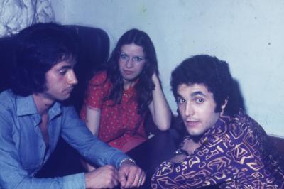 Photos( diapos ) Archives personnelles de M José Deregnaucourt , les années Caméléon  1968 - 1974  , au centre de la photo Melle Vanesse de Fresnes / sur  / Escaut  .