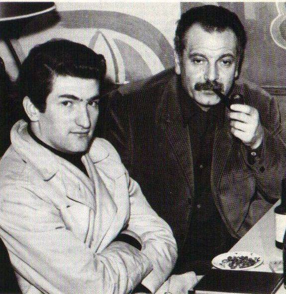 Photo inédite Eddy Mitchell et Georges Brassens