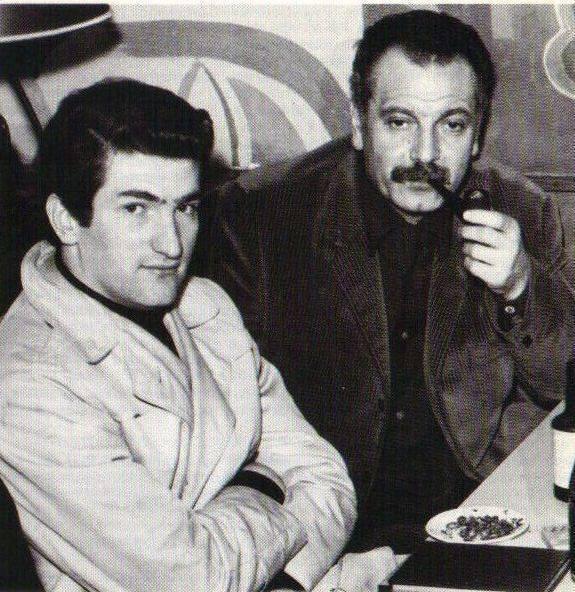 Photo inédite Eddy Mitchell et Georges Brassens