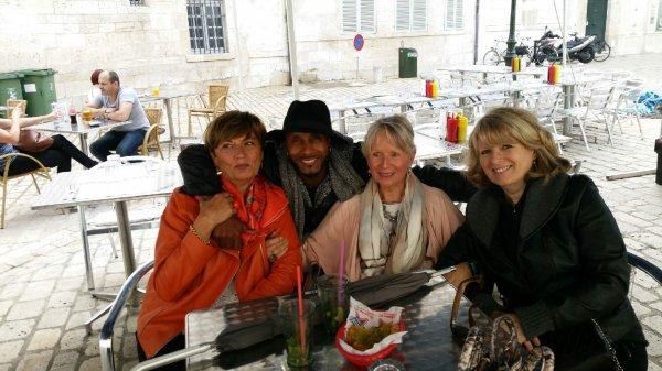 21 juin 2016 Fête de la musique à Orléans avec nos amis Vigon & Jay (les Soul Men),Jacqueline et Henri Quinton,Christine et Maryse,