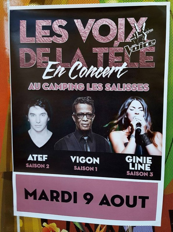 Vigon était en concert au camping Les Salisses organisé par Pascal le maître des lieux.Avec Atef et Ginie Line