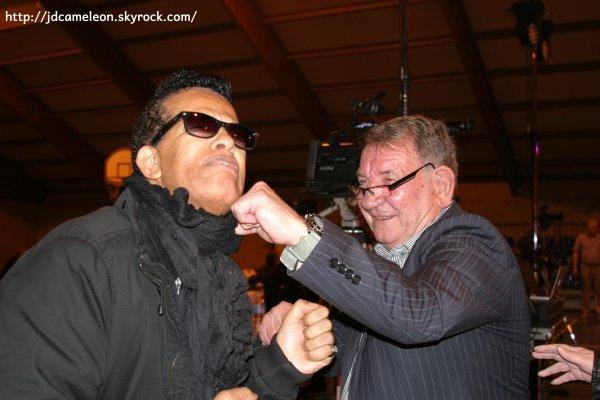 Georges avec son Copain et grand ami Vigon , Concert hommage à Erick Bamy 2015 à Vieux à Condé  Nord ( photos Claudio )