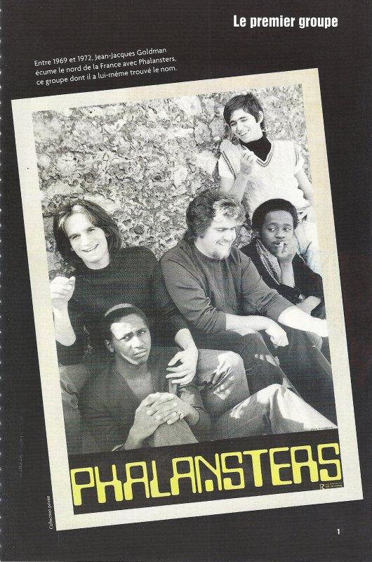 """Le premier groupe de Jean Jacques Goldman """" Les Phalansters """"  parmi ses musiciens Christian et Alex Gibson Brothers  ."""