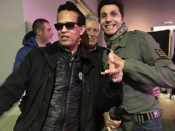 Vigon a rencontré Jean Luc Lahaye au Méridien le 28/10/2016 lors du concert The Queen Of Rock'n'Roll avec Linda Gail Lewis