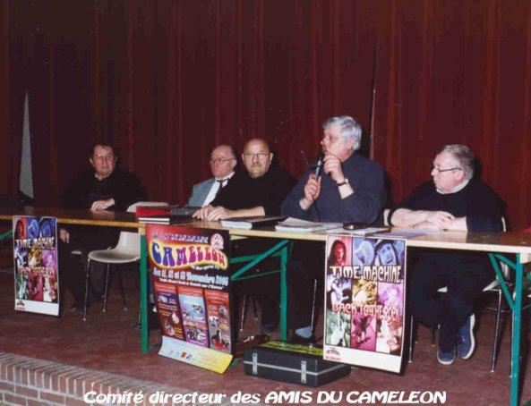 SOUVENIRS SOUVENIRS  , 2005 L'ONT PRÉPARE LE PREMIER ANNIVERSAIRE DES 35 ANS DU CAMÉLÉON ,  RÉUNION DES AMIS DU CAMÉLÉON , EUGÈNE ,  RENÉ VANESSE , MARCEL BELURIER , JOSE  ,  ET GERARD ( LOULOU ) .