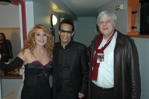 Julie Pietri , Vigon et José à L' Olympia pour le fabuleux concert des Rois de la Soul   photo Rosario  .