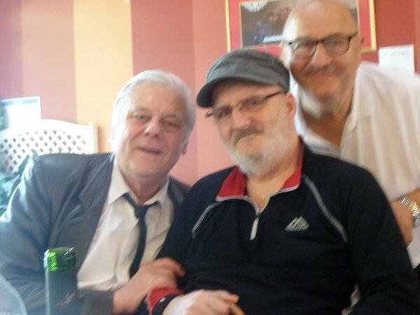 Aubigny au Bac, Chez Jeannot et Floriane (Peter Laurens) Jean Luc Laloyer ancien serveur au Caméléon  , Marcel et José (Photos Liliane )