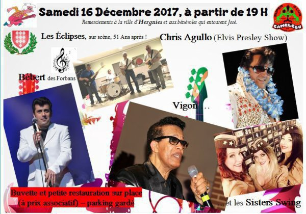 WEEK-END SALUT LES SIXTIES  , SALLE ANDRÉ MALRAUX A HERGNIES  .