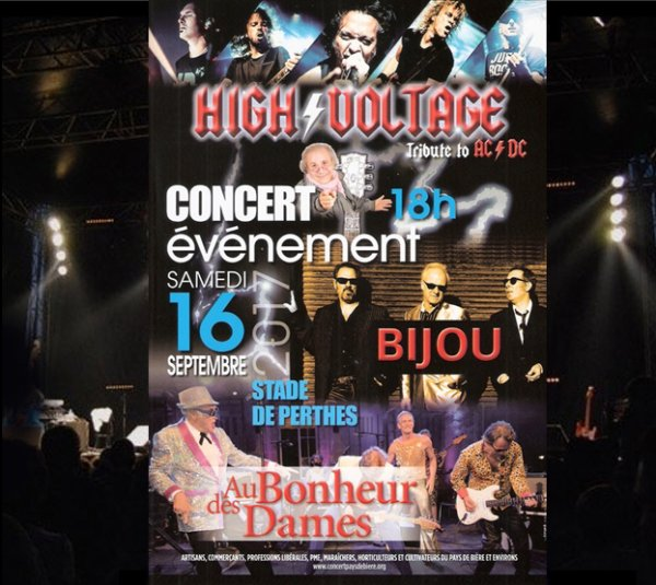Samedi 16 septembre 2017 concert live stade de Perthes - en -  Gatinais .