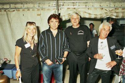 Perthes - en Gatinais , Jacqueline Quinton organisatrice , Claude Barzotti , José , et Henri Quinton organisateur ( Photo Rosario  ) .