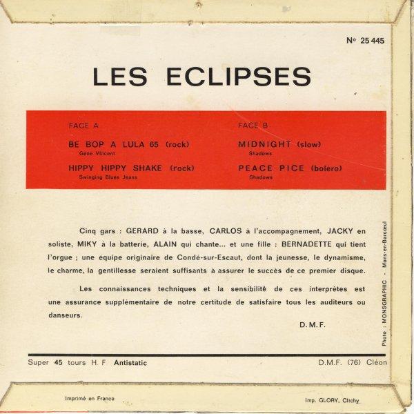 """51 ANS APRES , LES ECLIPSES EN CONCERT LIVE A HERGNIES POUR LE WEEK-END DE DÉCEMBRE """" SALUT LES SIXTIES """" ( pochette les Éclipses de 1966 )   ."""